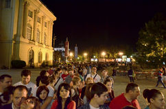 Night of Museums in Bucharest - National Museum of Art of Romania Stock Photography