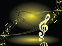 Night music. Vector. Royalty Free Stock Photo