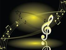 Night music. Vector. Royalty Free Stock Photo