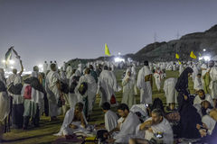 Night of Muzdalifa. Spending the night in Muzdalifa - one of the rites of Hajj.  November 5, 2011 Royalty Free Stock Images