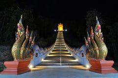 Night Naga stairs Stock Photos