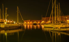 Night in Naples Harbor Royalty Free Stock Photography
