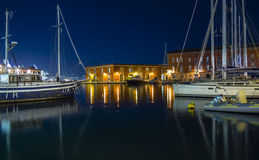 Night in Naples Harbor Stock Photography