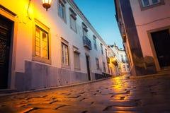 Night narrow street Stock Photography