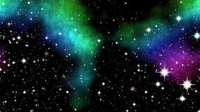 Night nebula on sky Stock Photography