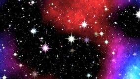 Night nebula on sky stock video footage