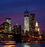 Night at New York City stock photo