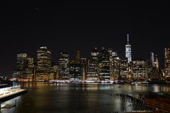 Night in New York City Royalty Free Stock Photos