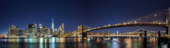 NEW YORK CITY NIGHT LIGHTS Stock Image