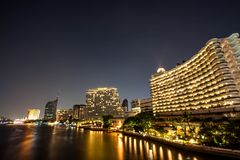 Night nice in bangkok. One night on Bangkok ,Thailand The river Chaophaya have be nice night Stock Images