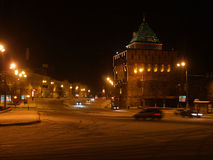 Night in Nizhny Novgorod Stock Image