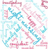 Night Nursing Word Cloud. On a white background Royalty Free Stock Images