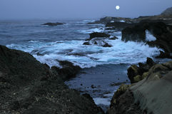 Night Ocean. Night time at the ocean. California coast stock photography