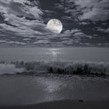 Night ocean view. Stock Photos