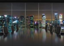 Night office interior Stock Image