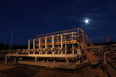 Night oil construction Royalty Free Stock Image