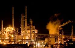 night oil refinery Στοκ Φωτογραφίες