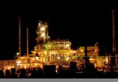 night oil refinery Στοκ Εικόνες