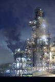 night oil rig Στοκ εικόνα με δικαίωμα ελεύθερης χρήσης