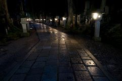 Night at Okunoin cemetery, Koya san, Japan Royalty Free Stock Photos