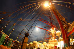 Night on an old sailing ship Stock Photography
