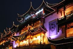 Night in Old Shanghai Royalty Free Stock Images