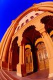 Night of the old synagogue of Uzhgorod, Ukraine Stock Photo