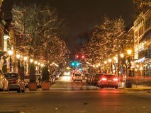 Night in Old Town Alexandria Royalty Free Stock Images