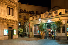 Night at old town in Barcelona Stock Photos