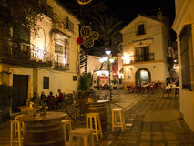 Night in the old town of Marbella on the Costa del Sol Spain Stock Photography