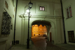 Night in Old Town of Warsaw Stock Images