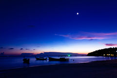 Night On The Beach Of Koh Lipe Island, Thailand. Royalty Free Stock Images