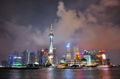 Night Oriental Pearl Tower and buildings, Shanghai Royalty Free Stock Photo