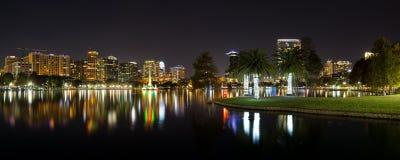 Night Orlando panorama Stock Image