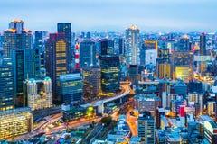 Night at Osaka city skyline in Japan Stock Images