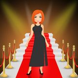 Night of the Oscars. Cute illustration of night of the Oscars Stock Photography