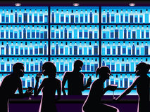 Night out royalty free illustration