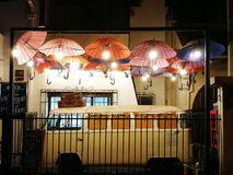 Night out in Chile. Beautiful corners at the city Royalty Free Stock Photography