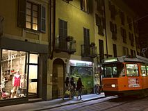 A night out in Milan Royalty Free Stock Photography