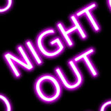 Night out neon sign retro design glow abstract  Stock Photos