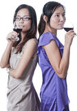 Night out with Wine Royalty Free Stock Photo
