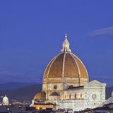 Night Over Cathedral Church of Florence, Italy Stock Photography
