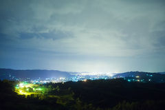 Night over the city Royalty Free Stock Photography