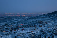 Night over Colorado Front Range and plains Royalty Free Stock Image