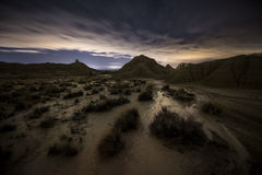 Night over the desert Royalty Free Stock Images