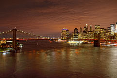Night over a Manhattan. Royalty Free Stock Photo