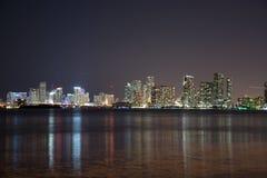 Night over Miami, Florida, USA Stock Image