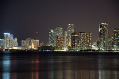 Night over Miami, Florida, USA Stock Images