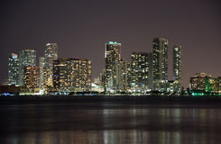 Night over Miami, Florida, USA Stock Photo