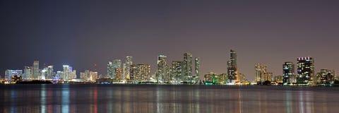 Night over Miami, Florida, USA Stock Photo